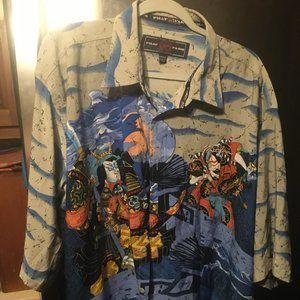 Phat Farm Japanese Samurai Shirt - 297 $40 FIRM